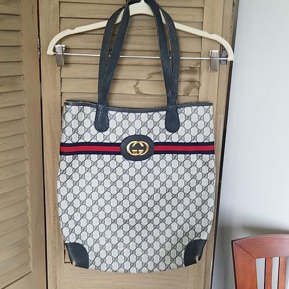 Gucci Handbags - Vintage Gucci Tote Bag